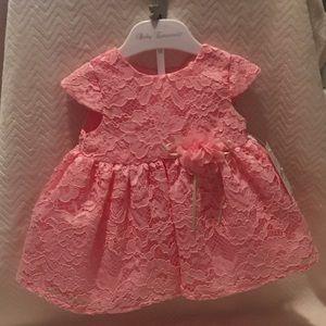 Pink infant lace dress